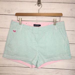 Southern Marsh seersucker Shorts Blue, White,Pink